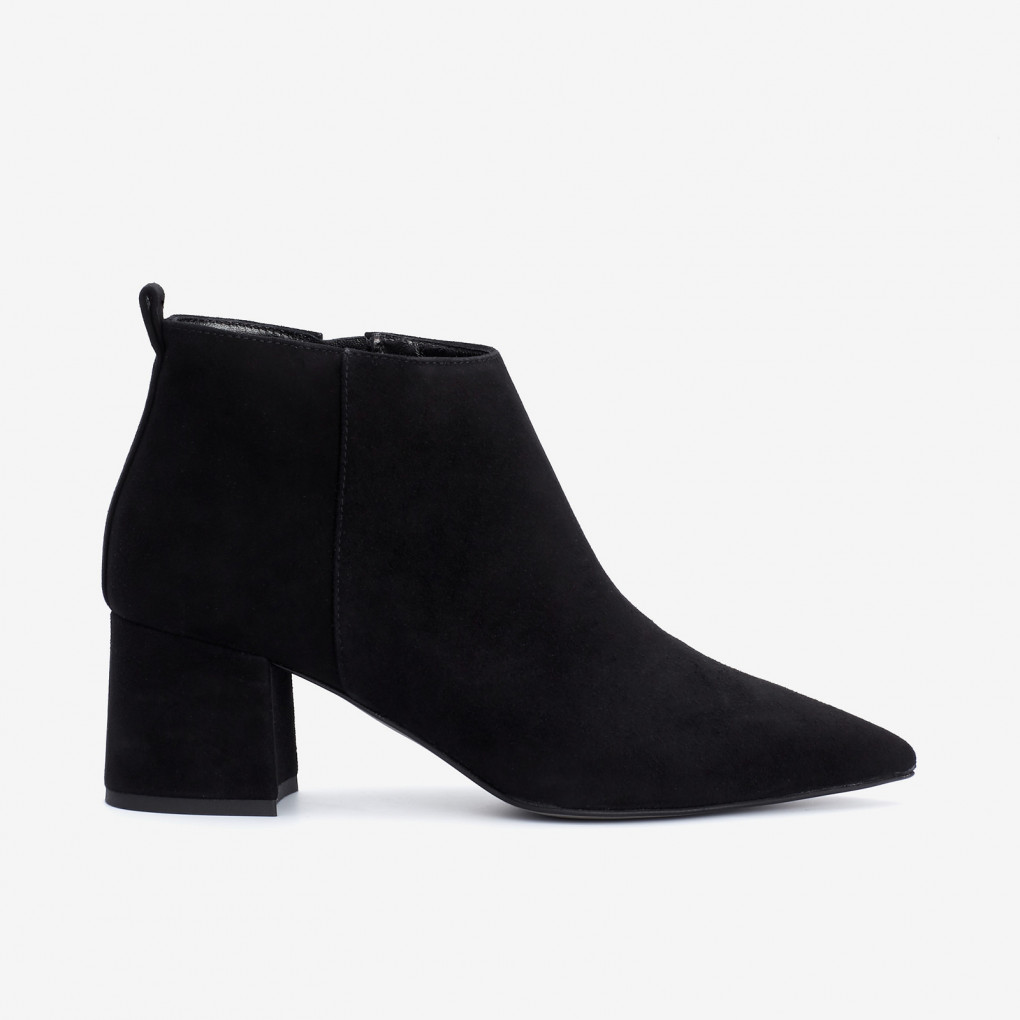 Pointed Block Heel Bootie