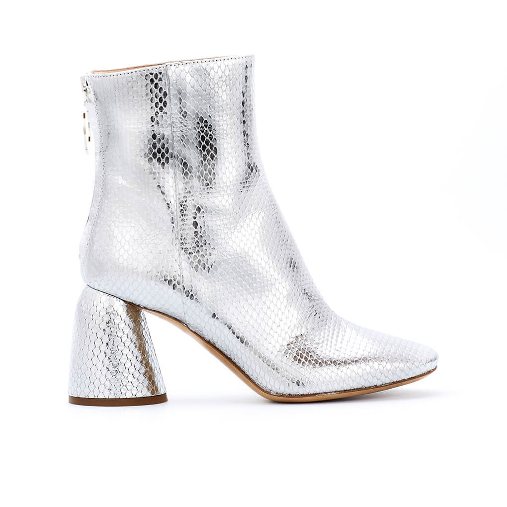 Class Ankle Boot Silver Elaphe