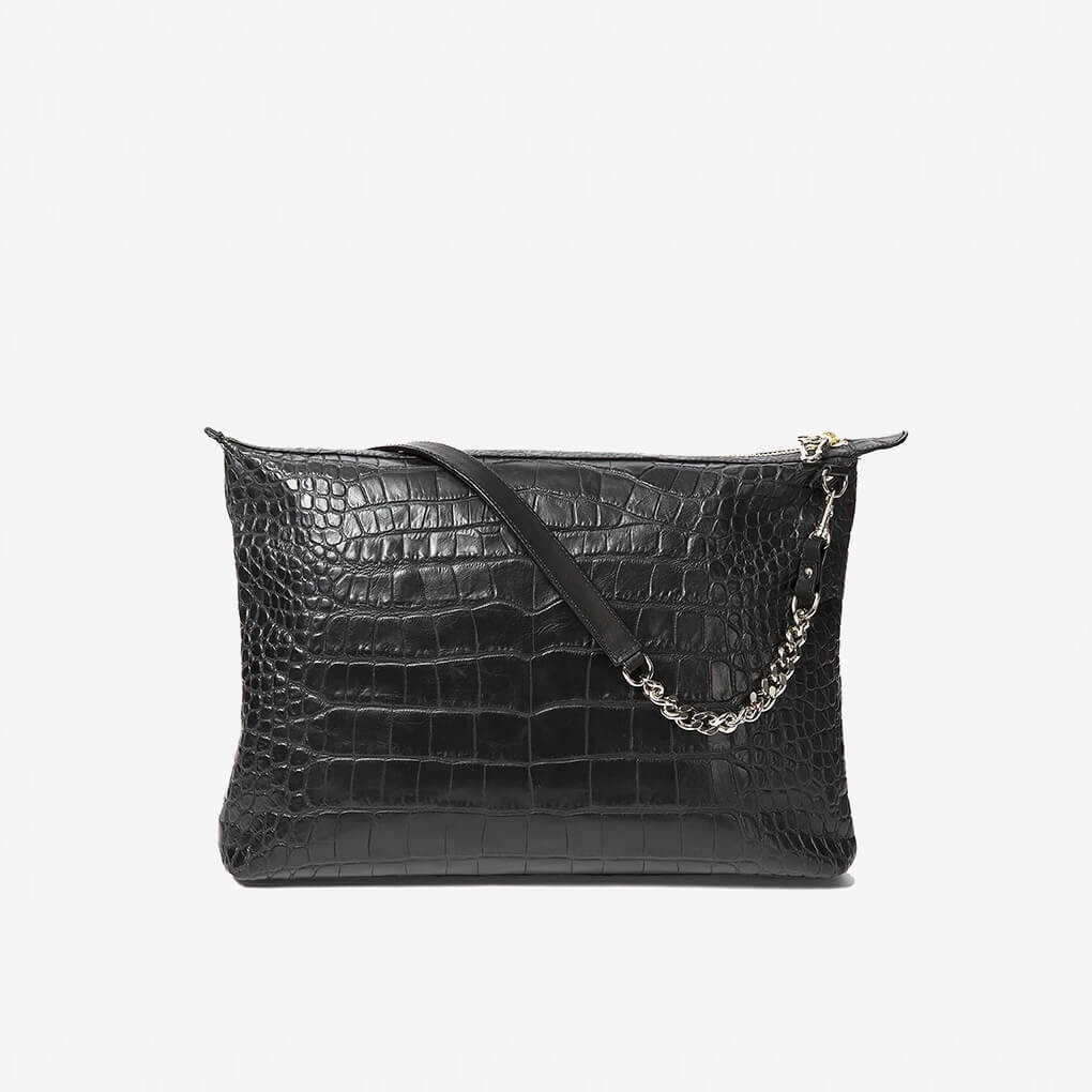 Chained Power Pouch Croc