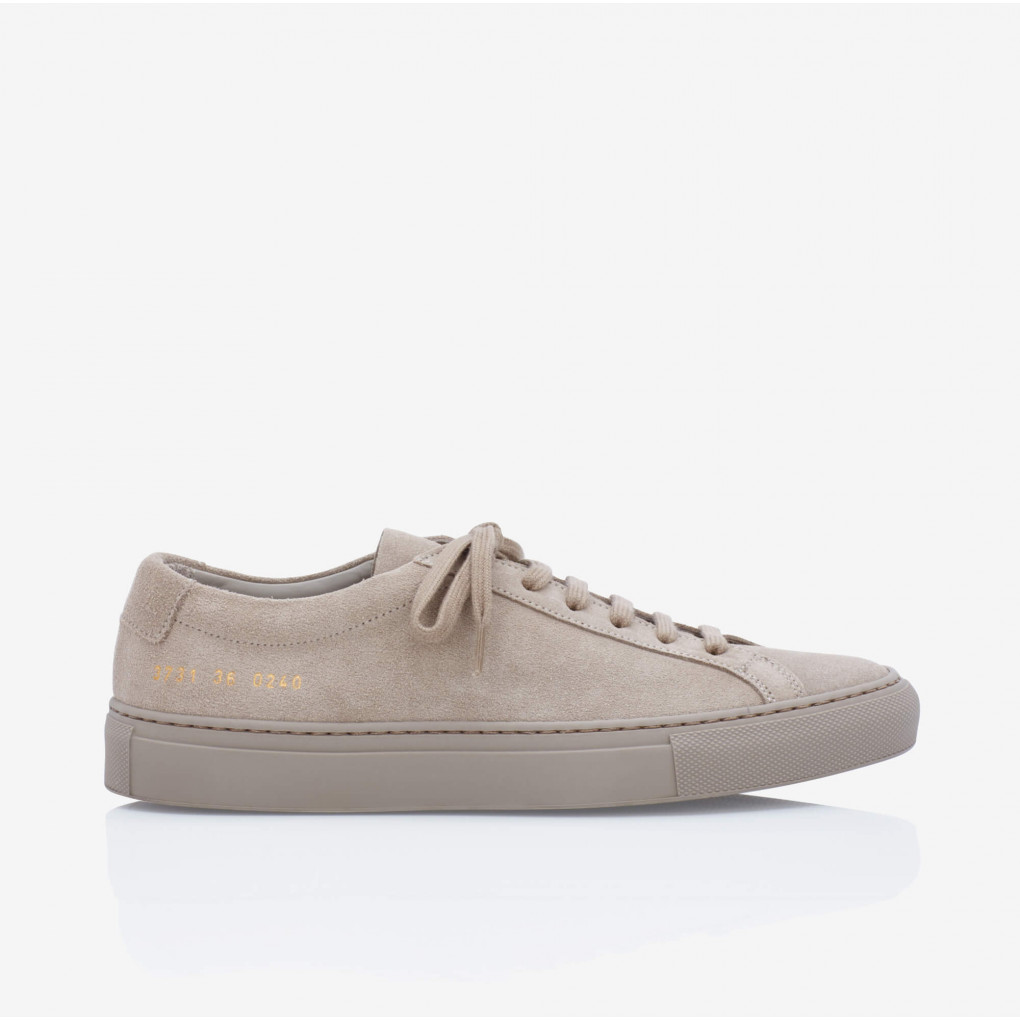 Achilles Low Taupe Suede