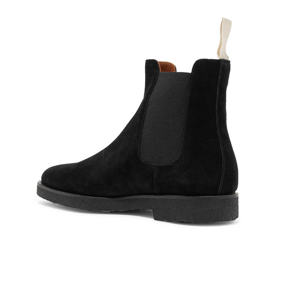 Common Projects Chelsea Boots Black Suede Minimal Nordic